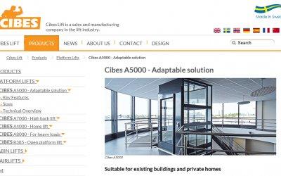 Cibes Platform Lift A5000 available on bimobject.com